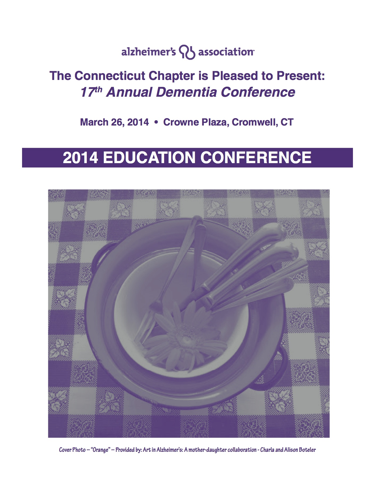 Annual Dementia Conference Cover Feature's Charla's Stackings