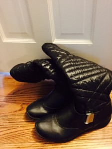 boots in closet